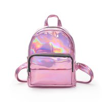 50pcs 2018 New Fashion Hologram Laser Backpack Pink Silver W...
