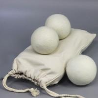 3PCS 7cm Filz-Wolltrockner Balls Handliche Wäschekugeln mit Stoffbeutel Natural wiederverwendbar spart Trockenzeit waschen Ball Geschenk