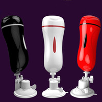 Two- hole airplane cup vibrates men' s hands- free masturb...