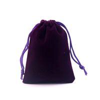 Sacos De veludo Bolsas de Jóias 50 pçs / lote 8x10 cm Roxo Presente Bonito Sacos de Tecido Pacote de Presente Bolsa de Veludo Presente Logotipo Personalizado