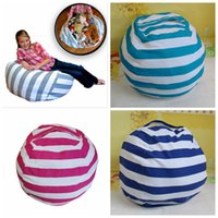 Beanbag Chair Portable Couch Cushions Plush Toys Storage Bea...