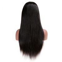 Staight Human Hair Wigs Full Lace Natural Color Remy Vrigin ...