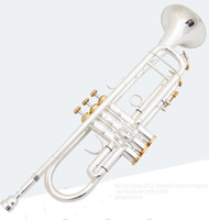 Anziano Bach placcatura d'argento Bach Tromba LT190S-77 B flat Brass Musical Instrument Trompeta High Grade professionale.
