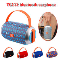 Moda subwoofers TG112 handfree altifalante portátil ipx4 estéreo supper baixo bluetooth speaker MP3 player com mic fornecimento TF cartão FM