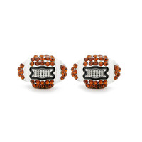 New Cute Rhinestone American Football Stud Earrings For Wome...