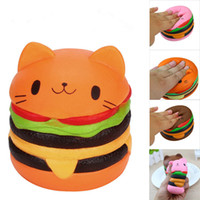 Slow Rising Parfumée Luky Chat Hamburger Squishy Cadeau Jumbo Squishy Jouets Pour Enfants Kawaii Squishies Stress Reliever Jouets