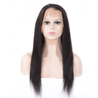 Zhifan Human Hair Black Long Straight 360 Full Lace Wigs For...