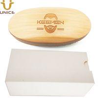 MOQ 50 шт. Индивидуальные логотипы Деревянные щетки для лица для борода для волос в белой подарочной коробке натуральный кабан