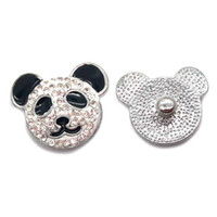 Wholesale W078 panda snap button jewelry metal snap for bracelet necklace (18mm 20mm snap buttons)