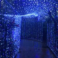 10 m * 5 m Al Aire Libre 1600 LED Cadena de Hadas Luces de la Cortina de Hadas Flash Brillo de la Lámpara de Vacaciones Bola de Vacaciones de Boda Decoración 110 V EE. UU. Enchufe