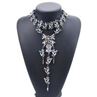 Gorgeous relevé collier pour femmes dame pendentif Chunky Couker Choker formelle Daily Mariage Party Bijoux Accessoire 3 Couleurs 1 PC