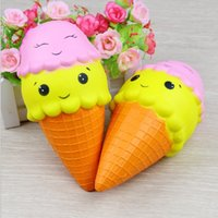 18cm Jumbo Kawaii Double Smiley face Icecream Squishy Perfum...