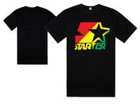 стартер Оптовая хип-хоп мужчины и женщины футболка хип-хоп лето с коротким рукавом 100% хлопок высокое качество плюс размер 3xl для спортивной одежды