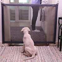 Mesh Magic Pet Dog Gate Safe Guard And Install Anywhere Pet ...