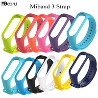 Mi band 3 strap colorful Silicone Replacement wrist strap fo...