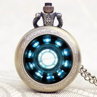 Vintage Steampunk Pocket Watch Fashion Iron Man Movies Exten...