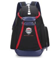 حقائب الظهر لكرة السلة فريق الأولمبية الولايات المتحدة الأمريكية الجديد حزم على ظهره الرجل قدرة كبيرة للماء التدريب السفر حقائب أحذية حقائب السفينة حرة
