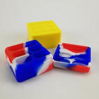 Contenitore in silicone antiaderente contenitore in silicone per uso alimentare da 25 ml Contenitore in cera antiaderente per contenitore in acciaio inox da 4 + 1 Contenitore di cera per Dabber Vaporizzatore DHL