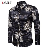 IEF. G. S men shirt casual long sleeve floral print fashion sh...