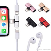 For iphone 7 Audio Adapter Splitter Lightnin- 8 Pin Jack Hea...