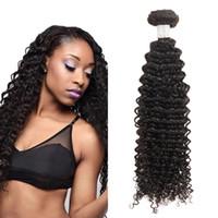 Ucuz 10A Sınıf Remy İnsan Saç Örgüleri Brezilyalı Kıvırcık Dalga Saç 10 Adet Fabrika Fiyat 8-28 inç Ücretsiz Kargo Doğal Siyah Renk