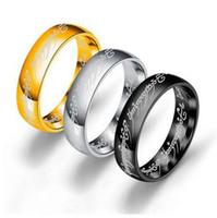 하나의 반지 애호가 여성 패션 쥬얼리 도매의 새로운 스테인레스 스틸 하나의 반지 도매 무료 배송