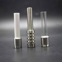510 Thread Titanium Quartz Ceramic Nails Tips per CSYC Paglia VAPED NC V4 Kit GR2 Titanium Suggerimento Pettine Tubo d'acqua in vetro