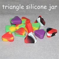Conteneurs de silicone non escamotant Boîtes multicolores 1.5ml Triangle Triangle Conteneur de silicium NO-Stick JARS Collecteur Nectar