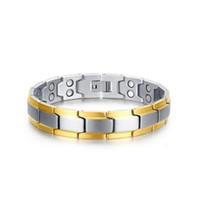 Mischauftragsförderungsverkauf * Edelstahlmagnetarmband der nagelneuen Männer magnetisches Steinarmbandquellfabrik-Verkäuferschmuck 076