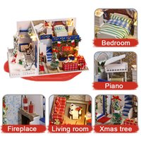 Kitoz DIY Christmas Doll House Miniature Small Wooden Room B...