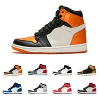 1 1s OG AAA Quality Black orange white mens trainers Basketb...