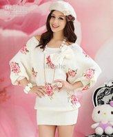 Hersteller Rosen gedruckte Strickjacke / Pullover / Damenbekleidungsbereich von zu Hause Kleidung Verkauf