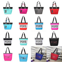 Women Fashion Designer Handbags Pink Letter Shoulder Bag Lad...
