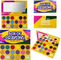 Migliore qualità! Ombretto colorato da BOX OF CRAYONS palette in polvere pressata trasporto veloce 18 COLORI hot