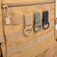 في الهواء الطلق التكتيكية رخوة حزام حزام مشبك حزام D- حلقة تسلق مشبك العسكرية النايلون شنقا سلسلة حقيبة الظهر مفتاح هوك