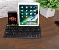Teclado inalámbrico Zienstar Bluetooth con ranura para Ipad, para Iphone y Android / Windows Tablet, Soporte Win / Android / IOS System