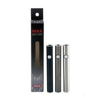 Amigo Max Precalentamiento de la batería 380mAh con voltaje variable de USB Carga inferior 510 Batería para aceite grueso Esmart Max Battery