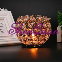 Free shipping crystal Beaded Bowl Votive Holder Round 4 inch...