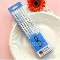 "12pcs / lot Alphabet style HB Wooden Pencils Length: 7 ""Kawaii Kids Writing Pencil Office Papelería escolar (ss-1424)"