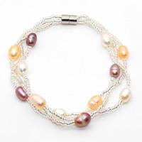 2018 Fashion 12 perla d'acqua dolce braccialetto di perle signore gioielli regalo a sorpresa gioielli per gli amanti