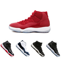 2018 11 Basketball Shoes men women Cap and Gown gym red Midn...
