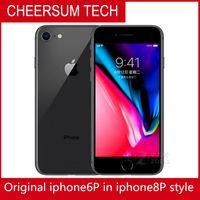 مقفلة 4.7 5.5 بوصة 64 جيجابايت 128GB iPhone 6 في 8 Plus Mobilephone iPhone 6 تم تجديده في iPhone 8 Housing Cellplone