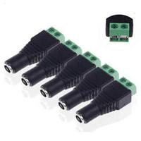 Connettori CC femmina da 5,5 mm x 2,1 mm Connettori maschio Jack Connettori di alimentazione per moduli LED Strip Alimentatore CA.