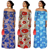 2018 African women Clothing plus size print long dresses max...