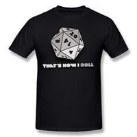 Mix Order Homme 100% Cotton C'est comme ça que je roule d20 gamer T-shirt Dice Homme T-shirt à col rond et manches courtes vert