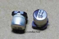 50pcs 10v 22UF SMD 4X5mm chip de aluminio electrolítico condensador
