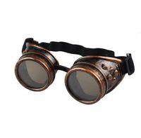 Estilo Vintage Steampunk Óculos de Solda Do Punk Óculos Góticos Cosplay 2018 Nova Marca Designer de Moda Verão Ao Ar Livre Eyewear