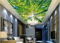 사진 벽지 3D Forest HD zenith murals 3 차원 벽화 벽지