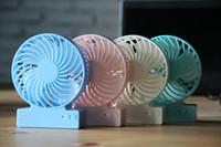 Ventilatore portatile ricaricabile 3 velocità silenzioso Ventilatore di raffreddamento Mini USB atmosfera Ventola con batteria agli ioni di litio Ventola multifunzionale per bambino adulto