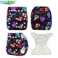 Pañales modernos del paño de la tela de la prenda impermeable de la alta calidad del panal del paño de Ananbaby del proveedor popular para los bebés